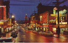 Chinatown At Night, Vancouver, B.C. Canada East Pender Street