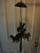 METAL COW WINDCHIME BRONZE FINISH (NEW IN BOX)