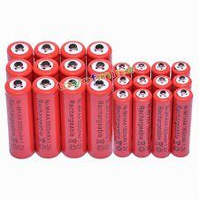 12 Aa 3000 Mah + 12 Aaa 1800mah 1.2 v Ni-mh Batería Recargable De 2a 3a de glóbulos rojos