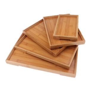 Wooden Serving Tray Serving Tea Breakfast Snacks Serving Wood Kitchen Platter