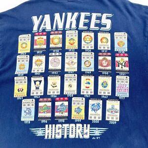 New York Yankees World Series Champions T-Shirt Mens 2XL Vintage Rare Baseball