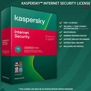 Kaspersky Internet Security 2021 UK [1PC / 2PC / 3PC / 5PC / 10PC / LICENSE ]