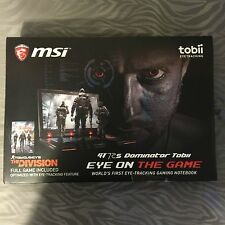 MSI GT72S G Tobii-805 i7-6820HK 2.7GHz 32GB 256GB SSD 1TB Blu-Ray GeForce 980M‏‏