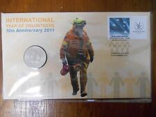 2011 INTERNATIONAL YEAR OF VOLUNTEERS  Coin & Stamp PNC/FDC Unc in Dust Cover