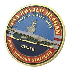 U.S. United States Navy | USS Ronald Reagan CVN-76 | Military Gold Plated Coin