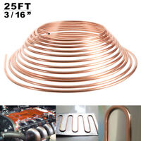PREMIUM QUALITY COPPER BRAKE PIPE HOSE 25FT ROLL LINE TUBE PIPING JOINT UNION UK