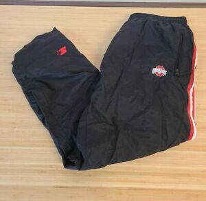 Starter Ohio State Buckeyes Mens Size XL Black Athletic track workout pants