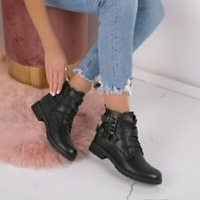 Unbranded Luk 1 Women Synthetic Leather Black Patent Ankle Boots UK Size 3-8
