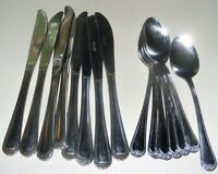 Rogers & Co. Stanley Roberts Rose Trio Stainless Steel Flatware 16 Piece Lot