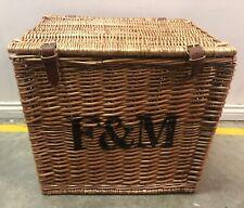 Fortnum & Mason F&M Large Wicker Picnic Hamper Storage Basket #6E