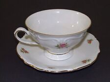 Vintage Oscar Schaller & Co. Tea Cup & Saucer - Winterling - Rosebud Pattern