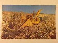 Rare Minneapolis Moline Tractor Cornhusker Postcard 1950s UNUSED New/Old Stock
