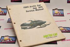 Genuine ARCTIC CAT Factory Service Shop Manual 1989 89 JAG AFS 2254-500