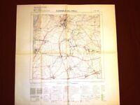 Grande carta topografica San Daniele del Friuli Udine Dettagliatissima I.G.M.