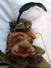 alte originelle Theater? Marionette Holz Waldgeist Zauberer Mann Hexer 80 cm