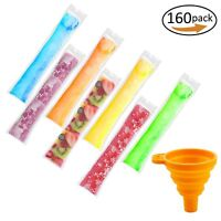 160PCS Disposable Popsicle Mold Bags Free Zip Ice Pop Freeze Candy Maker Pouch