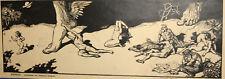 Antique nudes surrealist portrait print signed