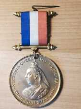 1897 Queen Victoria Diamond Jubilee medal with original ribbon and pin