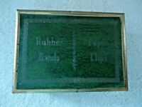 Vintage Team Line Rubber Bands / Paper Clips Box With General Postal Information