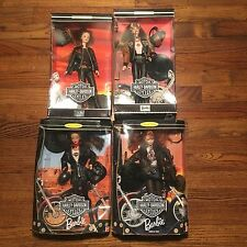 Harley Davidson Barbie Lot 1998 1999 2000 Collector Edition