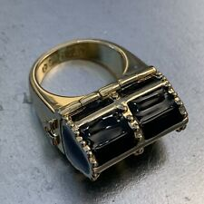 Disney Couture Tinkerbell Black Treasure Chest Ring