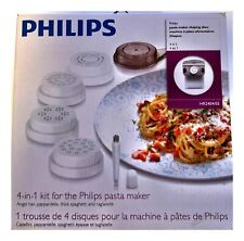 Philips Pasta Maker Shaping Discs HR2404/05 Kit, 4 Discs, NEW Free Shipping