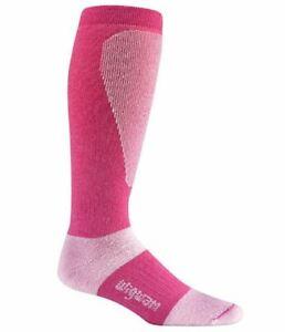 Wigwam F2092 Snow Sirocco Carmine Rose Ski Sock Medium Women 6-10 Men 5-9.5 New