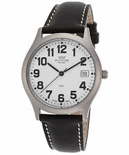 Glycine 3754.14AV.LB9-4 Men's Black Genuine Leather White Dial Watch