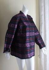 Talbots Sz 20W Petite 20 W Silk Regal Stripe Persian Art V-Neck Jacket Exquisite