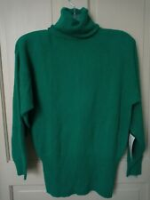 NWT JH Collectibles SZ Sm Lambswool Angora Nylon Green Sweater.  J41