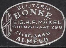 Netherlands Cinderella stamp: 1030s Bonke Liquor Store, Almelo, Holland- cw32.42