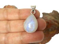 Fiery MOONSTONE   Sterling  Silver   925  Gemstone  PENDANT - Gift Boxed!