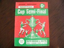Raith rovers v celtic semi final scottish cup 13/4/63 football programme