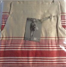 "Libeco Apron Amherst Flax Red Stripe 100% Linen Kitchen Restaurant 28"" X 40"" New"