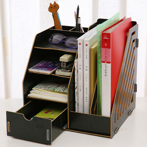 Collapsible Magazine File Holder Document Folder Desk Organizer  Drawer Storage