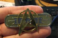 Star Trek enamel pin insignia symbol com badge cosplay costume khan 80s movies