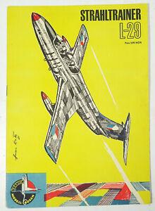 Rda Kranich Modellbogen Stahltrainer L-29 Avion 1965