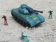 Military Double- Barrel Super Heavy Tank Plastic Toy Soldier Army Men Accessory
