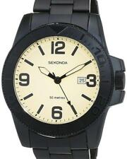 Sekonda 1390 Gents Quartz Analogue Date Black Ion Plated 50m Watch
