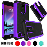 For LG Phoenix 3 / K4 2017 / LG Risio 2 Phone Case Hybrid Shockproof Hard Cover