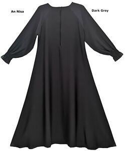 Stylish Dubai mini Umbrella Abaya/Burqa with 15 inches Zip-Best quality Nidah