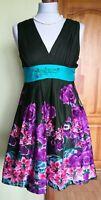 Women's DESIGUAL Sleeveless Floral Dress , Size 36/XS, Good condition !