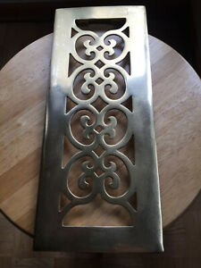 Vintage solid brass vent cover/ scroll pattern