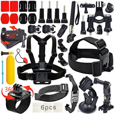 Sports Cam Accessories Kit Bundle for GoPro Hero 5 4 3+3 2 1 and sj4000 sj5000 s