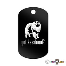 Got Keeshond Engraved Keychain Gi Tag dog v2 kees Many Colors