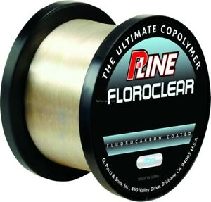 P-Line FCC-4 Floroclear Fluorocarbon Coated Mono 4lb 3000yd Clear