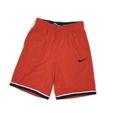 Nike Mens Dri Fit Shorts Basketball Training Loose Fit Mesh Orange Medium