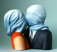More details for art sculpture the lovers magritte statue museum reproduction