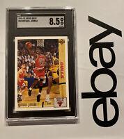 Michael Jordan SGC 8.5 Upper Deck #44 SLABBED Last Dance INVEST Man Cave 1991 NR