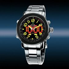 Orologio Digitale WEIDE Uomo Analogico Ragazzo Dual Display Led Watch ORIGINALE
